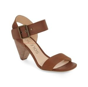 Sole Society Missy sandals in Saddle color